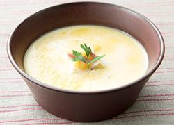 冷たいスープレシピ、ヘルシー枝豆豆富のビシソワーズ